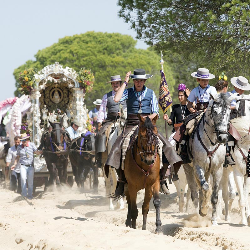 Pilgrimage along the way, one of the rural traditions of El Rocío