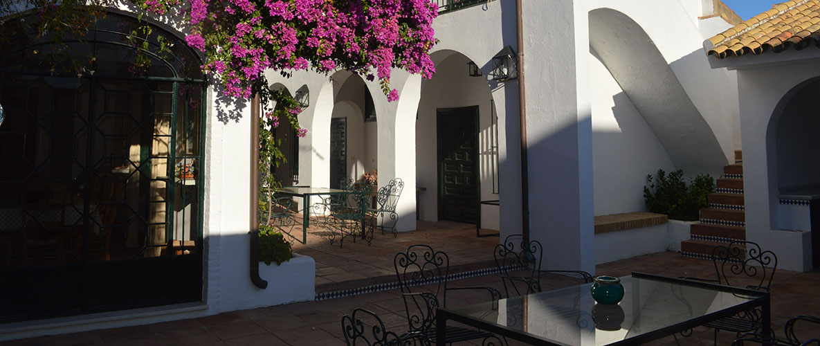 Courtyard of Lince Casa Rural
